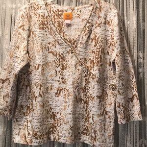 Ruby Rd Three-quarter length sleeve top